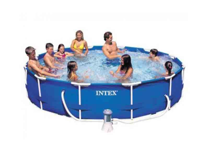 intex 15 feet dia pool prefabricated swimming pool india. Black Bedroom Furniture Sets. Home Design Ideas
