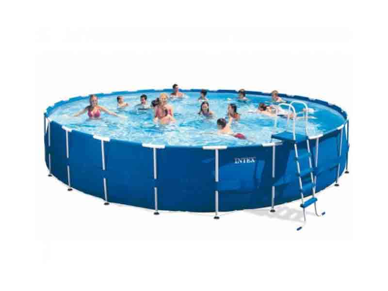 24 feet frame pool if24 intex easy set swimming pool for Achat piscine intex